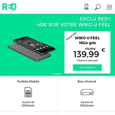 Réductions et promotions chez RED by SFR